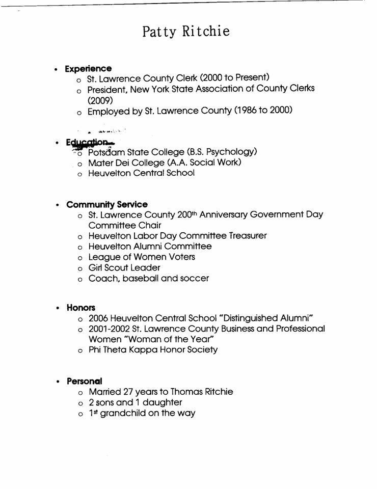 Resume report write